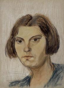 Portraitstudie EHD von ihrem Ehemann Fritz Dingkuhn